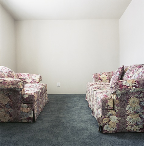 Two sofas in one room, manufactured display home, © Amy Eckert www.amyeckertphoto.com