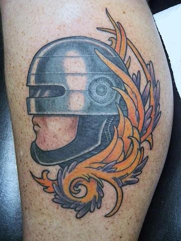picture of Robocop New traditional tattoo by Berol Landskroner of Copper Fox Tattoo Company