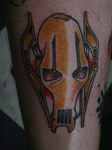Picture of Traditional style Star Wars Tattoo of General Grievous by Gina Marie of Copper Fox Tattoo Company