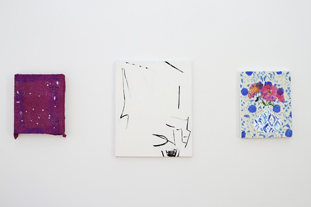 Install shot - 3 paintings