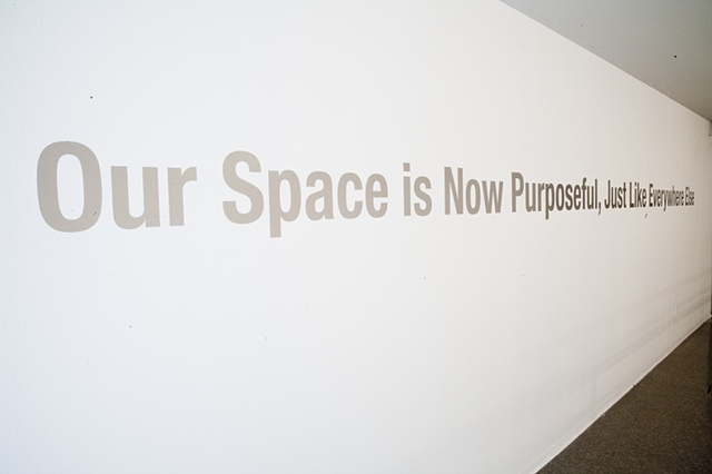 Upstairs Text Installation at Nichols Gallery, Pitzer College