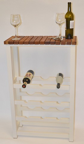 Handmade wooden wine rack
