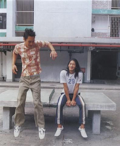 fashion photography by Junko Theresa Mikuriya men jumping council estate kowloon