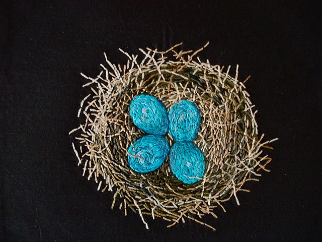 Nest of Robin's Eggs