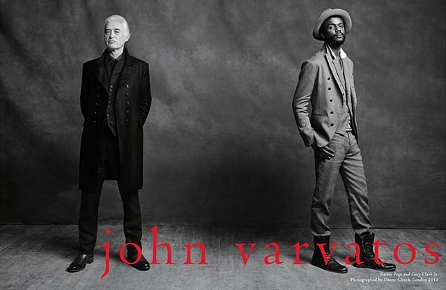 JIMMY PAGE &  GARY CLARK, JR. for John Varvatos