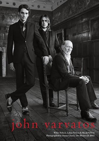 WILLIE NELSON,  LUKAS NELSON &  MICAH NELSON for John Varvatos