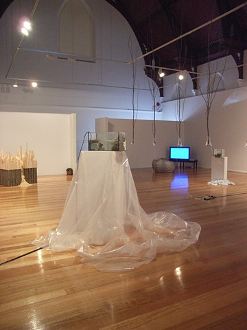 Cross Currents And Deep Holes (installation view)