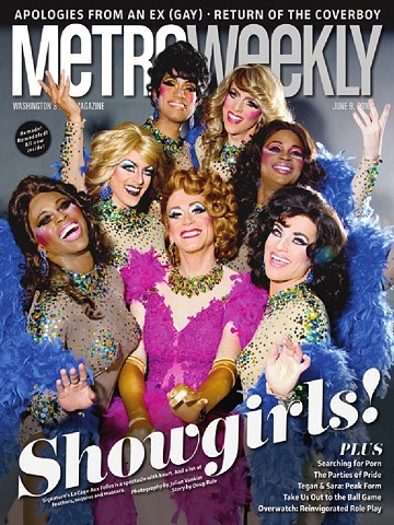 Metro Weekly cover LA CAGE AUX FOLLES Signature Theatre Photo by Julian Vankim