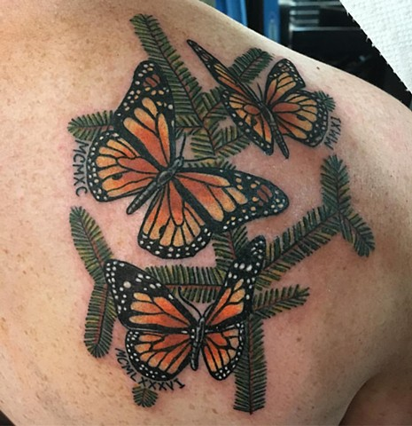 Traditional Monarch Butterfly Tattoo