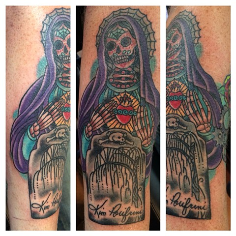 Day of the Dead Virgin Mary Tattoo