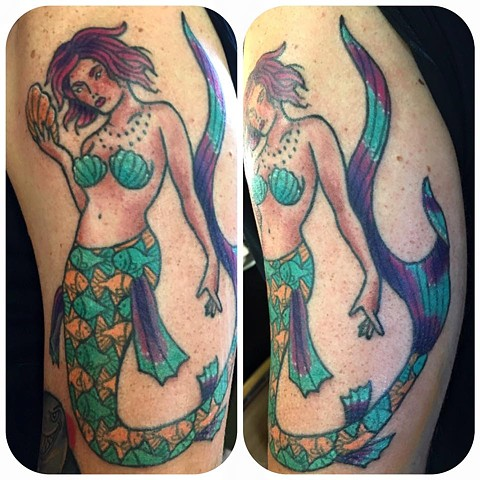 Mermaid Tattoo with M.C. Escher Tail