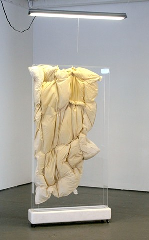 sculpture art mattress reliquary lauren carter