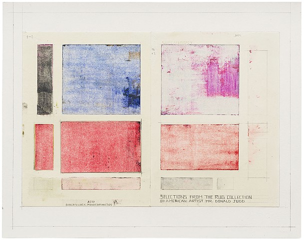 Selections from the Rug Collection of American Artist Mr. Donald Judd
