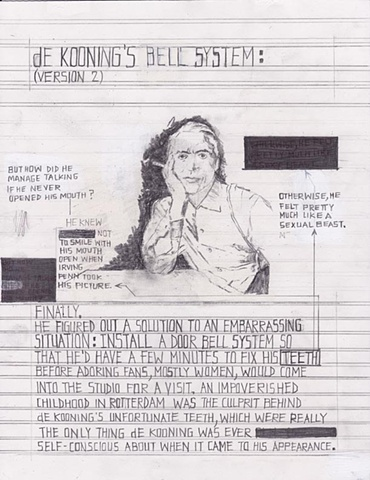 Sketch for de Kooning's Bell System (Version 2)