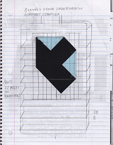 Denver International Airport Research Notebook  (interior pages)