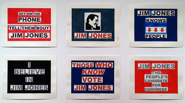 Failed campaign posters for Jim