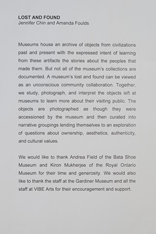 Statement and Dedication at the Gardiner Museum, Toronto Canada