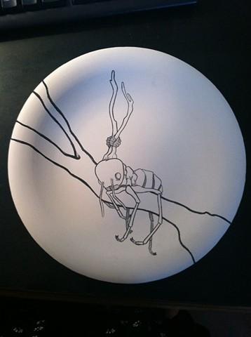 Ant with Cordyceps