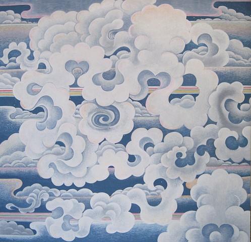 Skull clouds sky