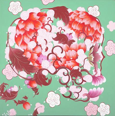 Garland of Lotus, Porcelain Cheekwood