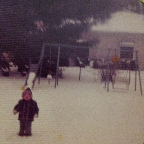 Little April in the Snow, Aurora, Missouri, 1977