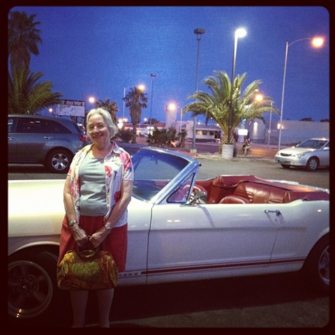 Mom and a Mustang, Las Vegas, Nevada 2013