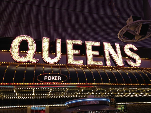 Queens Poker Neon, Las Vegas, Nevada 2013