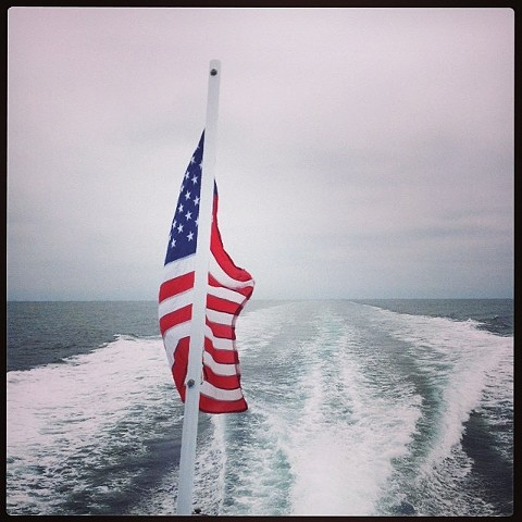 The Flag and the Sea, The Pacific Ocean off the coast of Santa Catalina Island, CA 2014