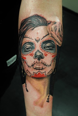 Dod girl tattoo by Trent Valleau