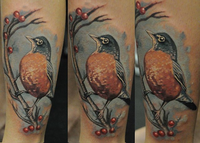 robin tattoo by Trent Valleau