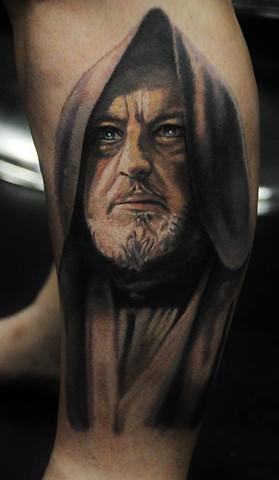 Obe wan kenobi tattoo by Trent Valleau