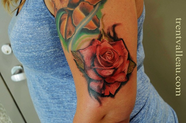 Rose tattoo by Trent Valleau