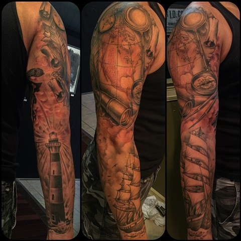 Navigation/Nautical Sleeve