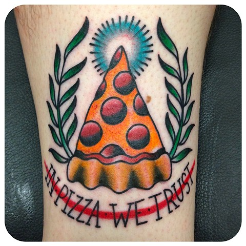 pizza tattoo cheese wreath by shawn patton