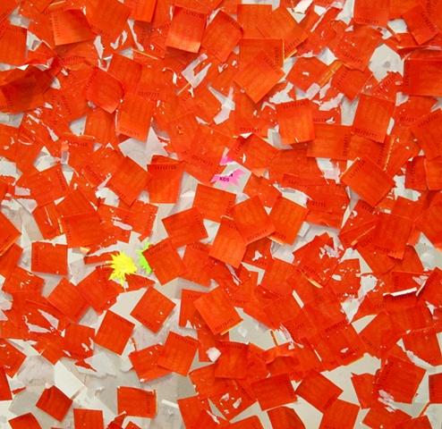 study in orange and white