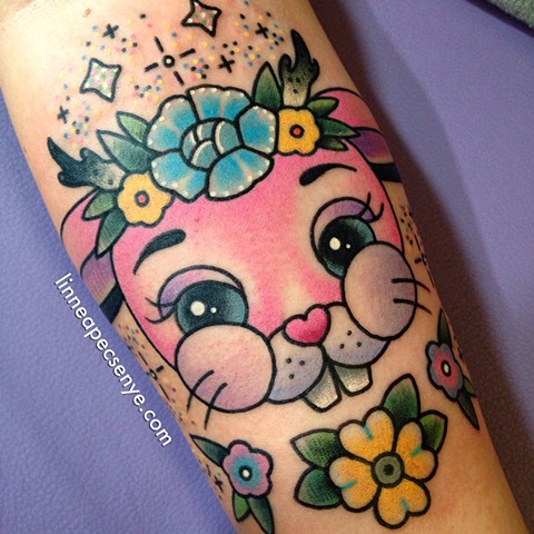 cute bunny tattoo melanie martinez tattoo linnea tattoos pink tattoos