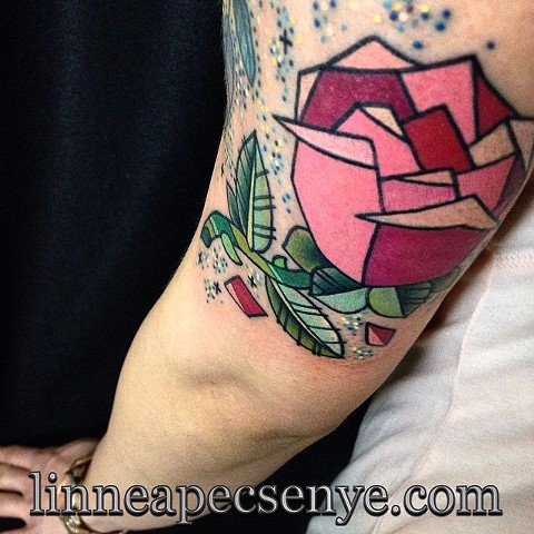 beauty and the beast geometric disney rose by LINNEA in asheville nc chicago