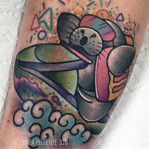Manatee tattoo jetski tattoo linnea tattoos asheville tattoo sad dad rtc
