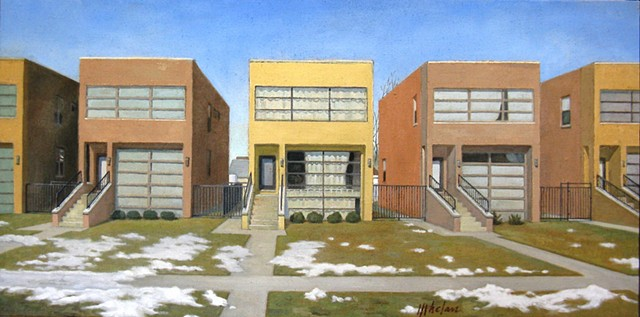 Contemporary middle-class homes in Chicago