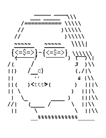 Self-Portrait in Font
