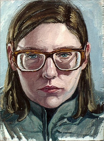 Self-Portrait with Large Glasses