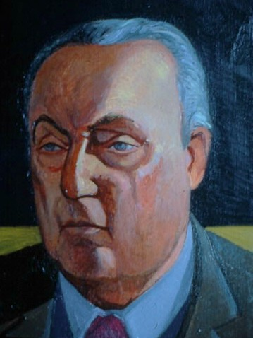 portrait painting of writer Girogio Bassani by Margaret McCann