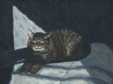 Cat portrait, paintings, cats