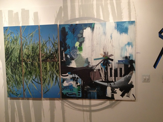 Nature Calls... @ Lot F Gallery installation shot 2  from my show with Josh Falk