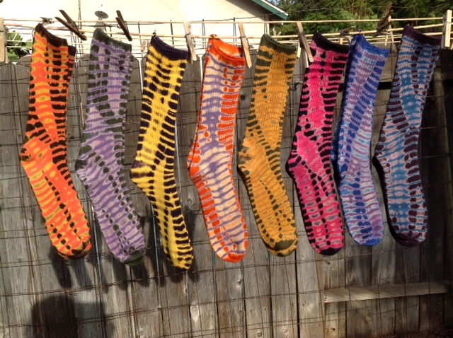 Tie-Dyed Bamboo Rayon Socks