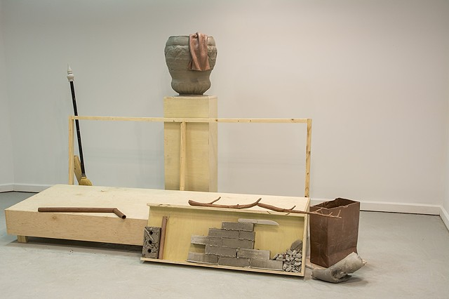 Ceramics, Sculpture, Sculptural Ceramics, Jesse Ring,Staging, Wet Clay