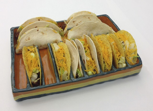Introduction to Ceramics: Food Specific Serving Ware: Taco Tray (in use)