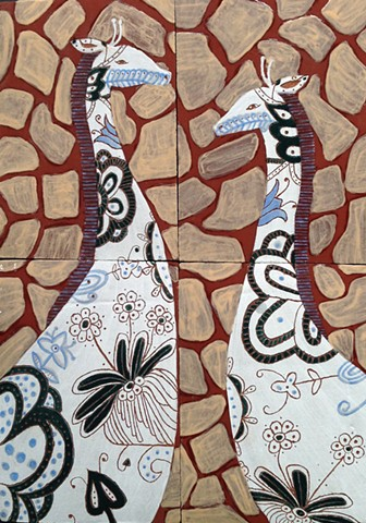 Introduction to Ceramics: Tile Project: Giraffe/Pattern
