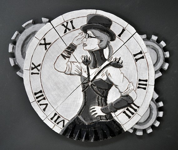 Introduction to Ceramics: Tile Project: Steam Punk Clock