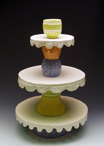 Ceramics I: Food Specific Serving Ware: Cupcake Stand